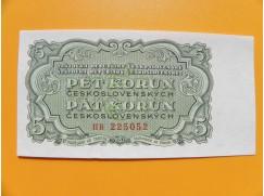 5.- Kčs/1953   český tisk série HB