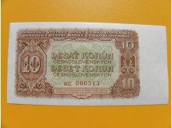 10.- Kčs/1953   český tisk série  NC