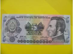 bankovka 5 lempiras série BE