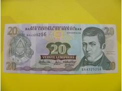 bankovka 20 lempiras série BA