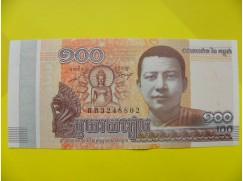 bankovka 100 rielů Kambodža 2014