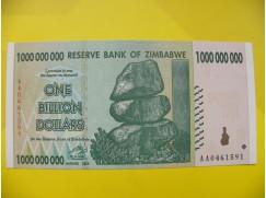 bankovka 1 miliarda Zimbabwských dolarů - série AA