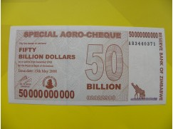 bankovka 50 miliard Zimbabwských dolarů 2 - série AB