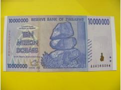 bankovka 10 miliónů Zimbabwských dolarů - série AA