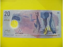 bankovka 20 Maledivských rupií 2015 - série A