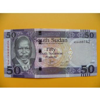 bankovka 50 liber Jižní Sudán - série AD